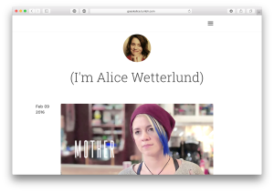 Alice is also on Tumblr